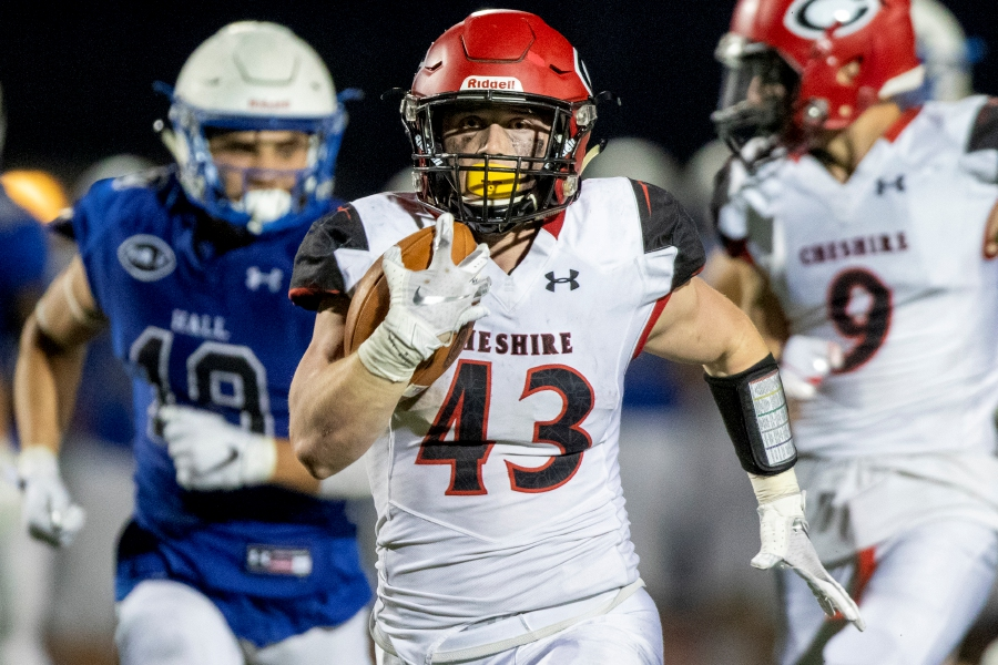 Jake McAlinden led CHS football with 20 touchdowns last fall. Photo taken by James Brandolini/Cheshire Herald.