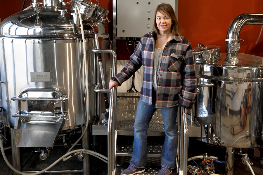 Jami Ferguson, co-owner of Cheshire Craft Brewing, a new brewery coming to 125 Commerce Court #7 in Cheshire, Mon., Mar. 15, 2021. The business is looking to open this spring. Dave Zajac, Record-Journal
