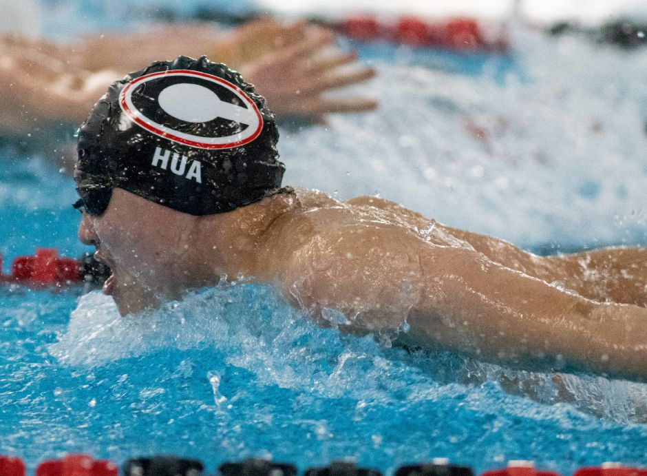 Harrison Hua has been a key contributor throughout his Cheshire swim career. Photo taken by Aaron Flaum/Record-Journal.