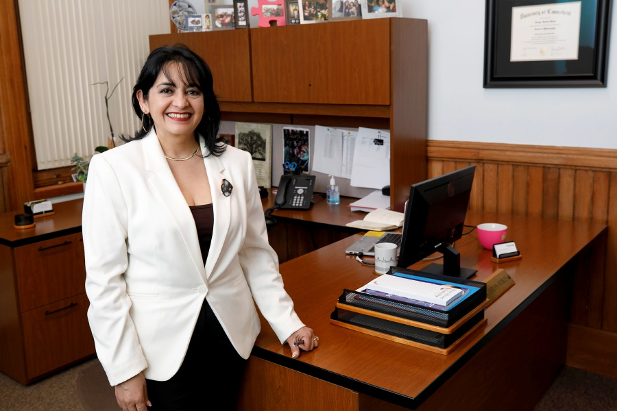 Evelyn Robles-Rivas, supervisor of Language and Community Partnerships at Meriden Public Schools, Thurs., Mar. 18, 2021. Dave Zajac, Record-Journal