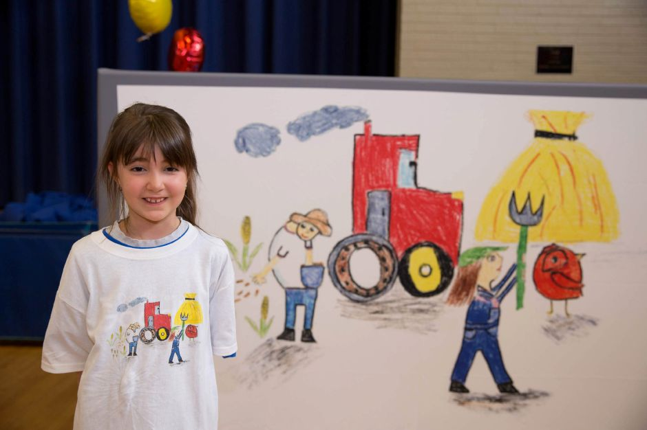 Submitted photo — Third-grade student Natalia Pepe won a prestigious award in May. The young student was honored as the winner of the Doodle for Google contest winner. In honor of her victory, Google representatives showed up at her school — St. Bridget School — to congratulate her.