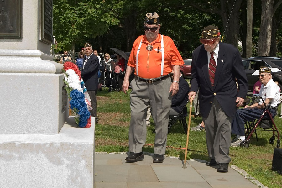 File photo - Veterans participated in the annual Wreath Laying Ceremony in 2018.