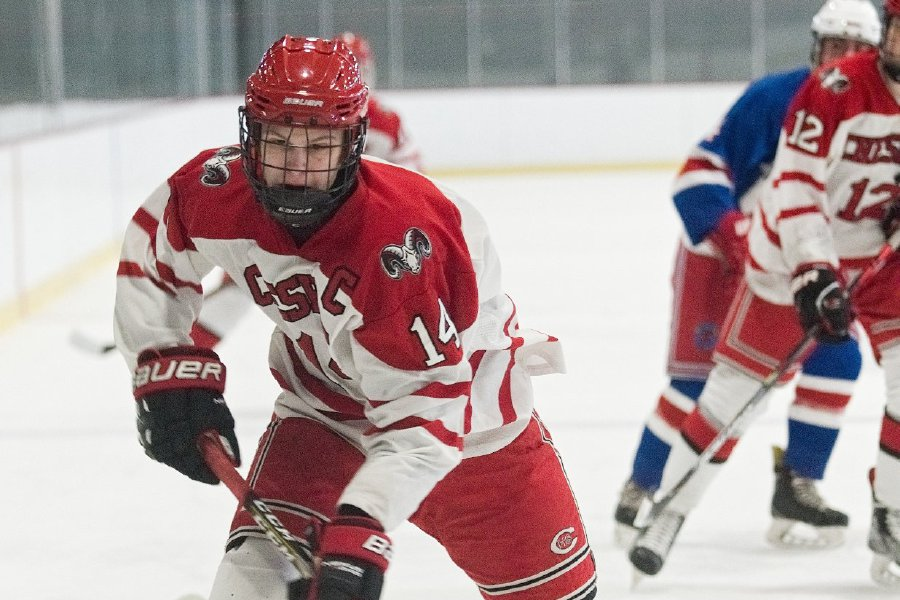 As a senior this year, Niklas Vasiljevs will co-captain the Cheshire High School ice hockey team for the second season in a row. Photo courtesy of Joey Jones.