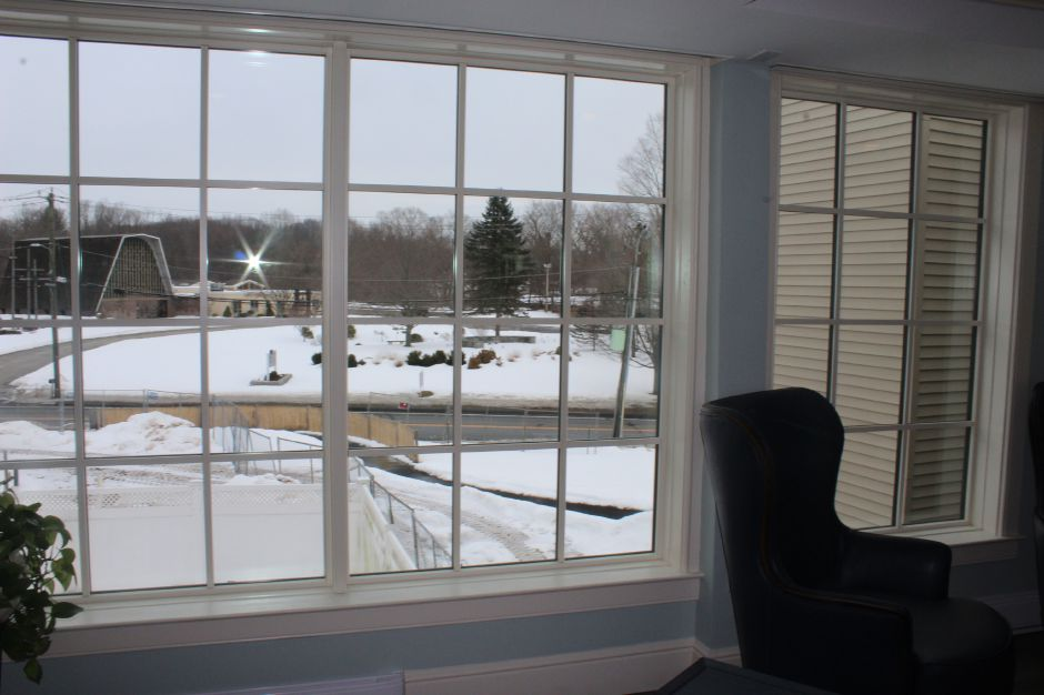 Mariah Melendez/Cheshire Herald – View from upstairs at Marbridge Retirement Center.