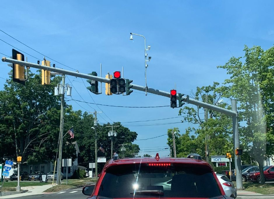 Mariah Melendez/Cheshire Herald – The new traffic cameras, installed in the center of traffic light poles on West Main Street, has been drawing quite a bit of attention from local residents.