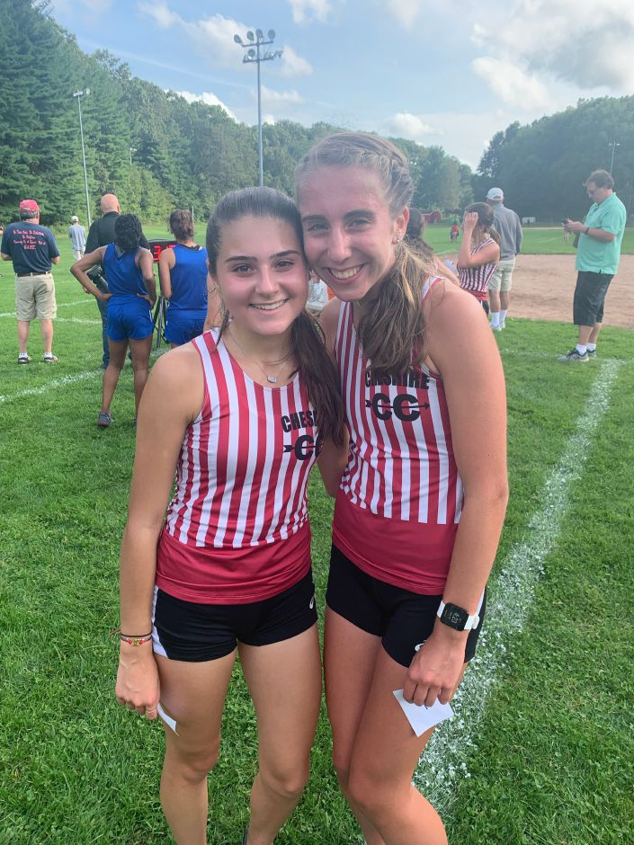 From left, Olivia Ferraro and Meghan Georgescu claimed the top-two spots for CHS girls