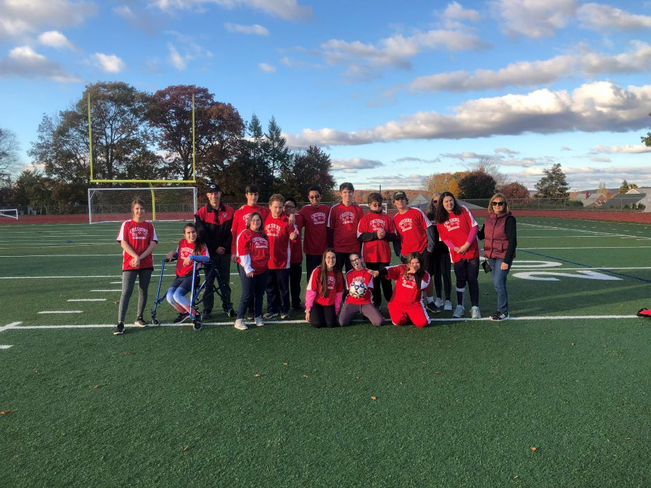 Submitted by Matt Guida. CHS Unified Sports team takes a poses for a photo on the turf field at the school in 2019.
