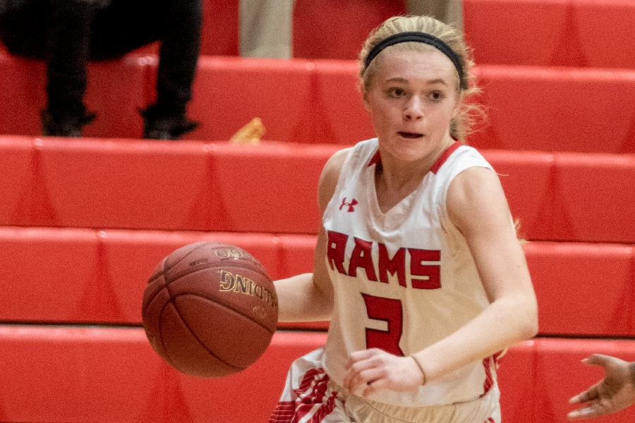 CHS junior guard Grace Lurz has played varsity basketball since her freshman year. Photo taken by James Brandolini/Cheshire Herald.