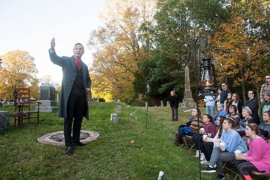 The spirits of some of Cheshire's historical figures truly came alive at Hillside Cemetery last October. Sprits Alive! will be virtual this year, due to the pandemic.