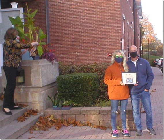 Photo courtesy of Kim Wantroba - Winners of the Scarecrow Contest in Cheshire were presented at the Cheshire Town Hall on Sunday, Oct. 25, for a special ceremony.
