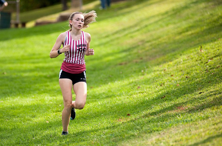 Senior tri-captain Kristina Benga placed fifth overall on Tuesday. Photo taken by Al Valerio/Cheshire Herald.