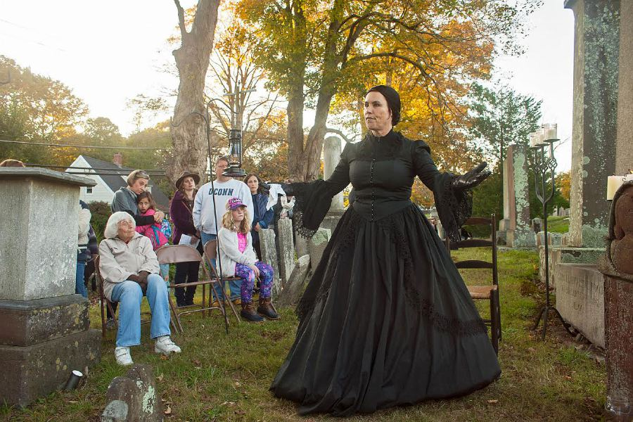 Al Valerio/Cheshire Herald - Tracey Burrill was Ann Law Hall for this year's Spirits Alive! Tour.